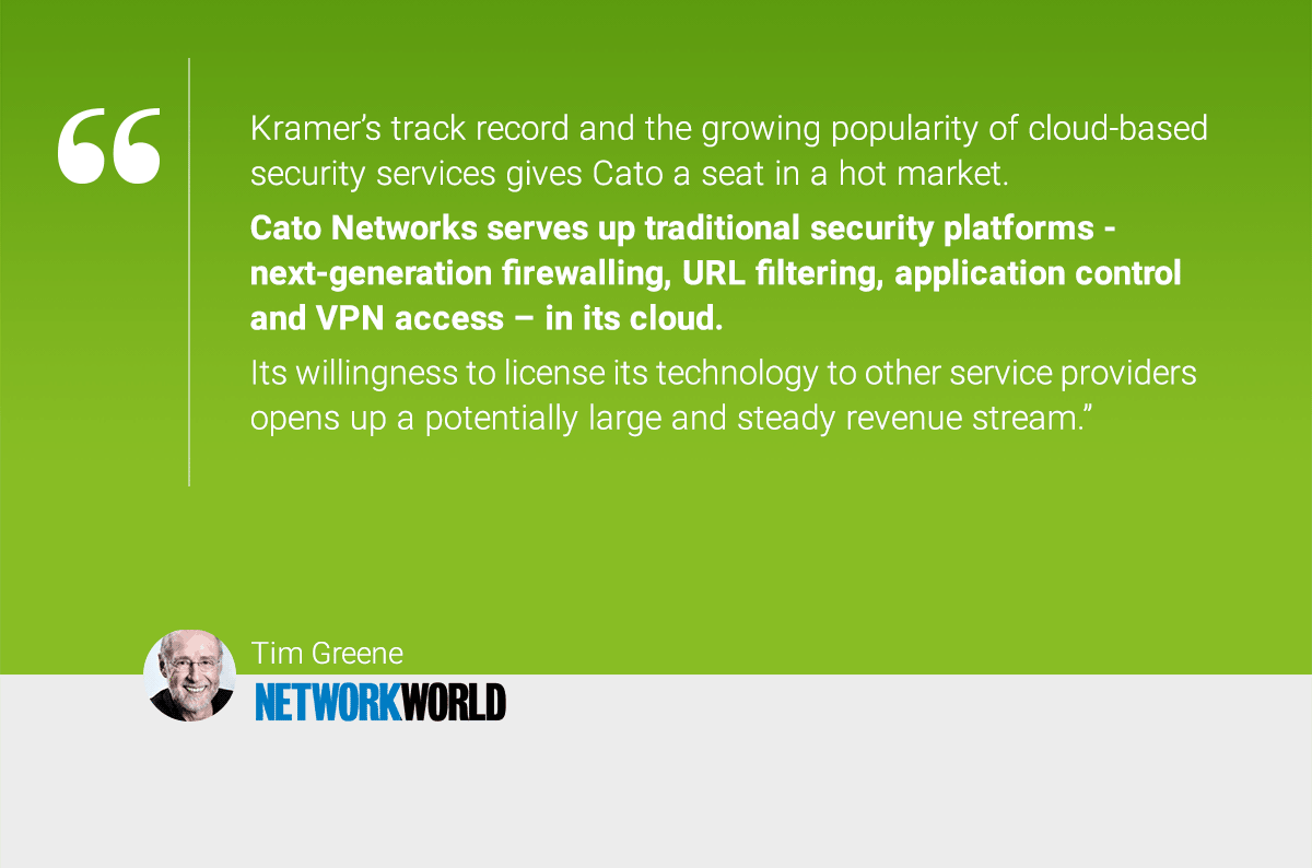 """Network World names Cato Networks to its exclusive list of """"hot security startups to  watch"""""""