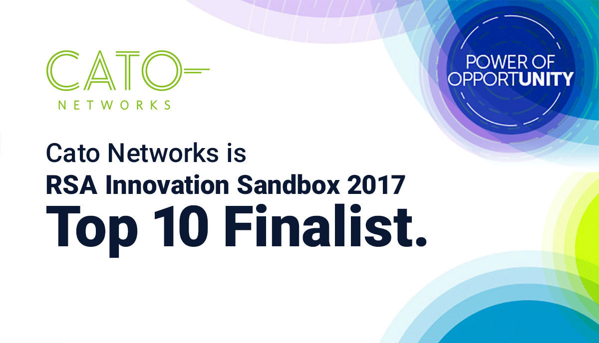 Cato Named Finalist to the 2017 RSA Innovation Sandbox Contest
