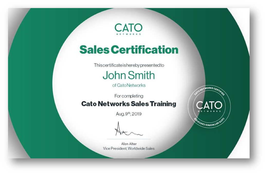 Sales Certification