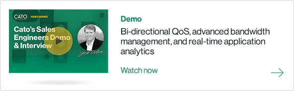 Bi-directional QoS, advanced bandwidth management, and real-time application analytics